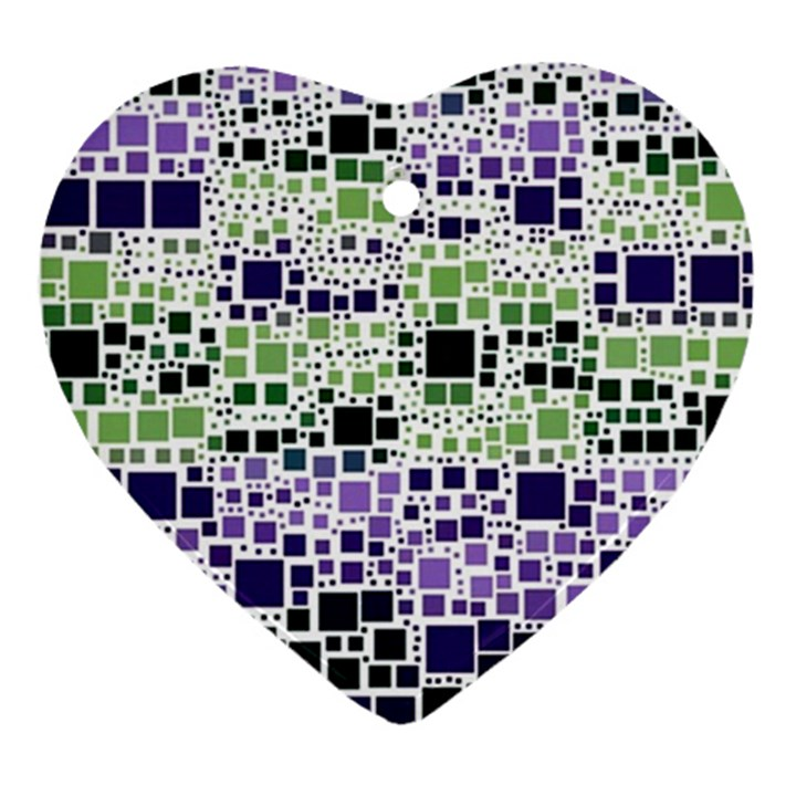 Block On Block, Purple Ornament (Heart)