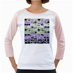 Block On Block, Purple Girly Raglans Front