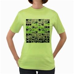 Block On Block, Purple Women s Green T-Shirt