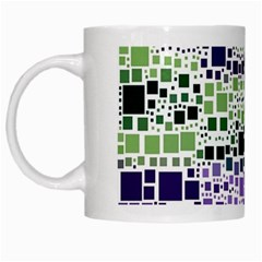 Block On Block, Purple White Mugs