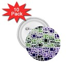 Block On Block, Purple 1.75  Buttons (10 pack) Front