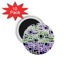 Block On Block, Purple 1 75  Magnets (10 Pack)