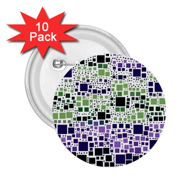 Block On Block, Purple 2.25  Buttons (10 pack)
