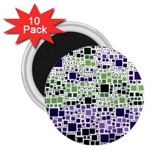 Block On Block, Purple 2.25  Magnets (10 pack)