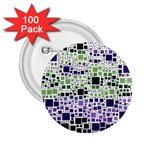 Block On Block, Purple 2.25  Buttons (100 pack)  Front