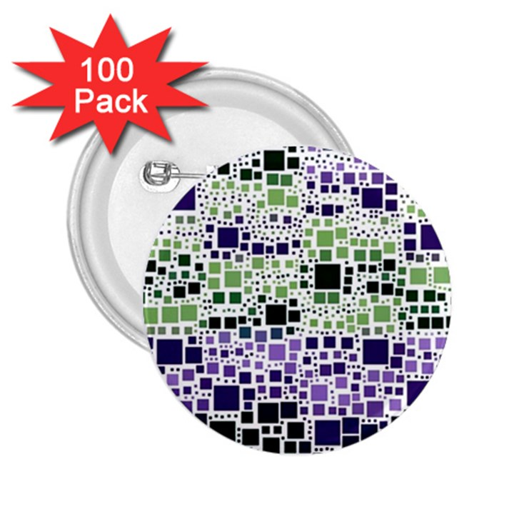 Block On Block, Purple 2.25  Buttons (100 pack)