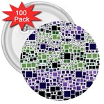 Block On Block, Purple 3  Buttons (100 pack)  Front