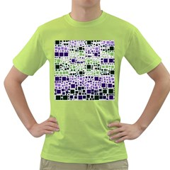 Block On Block, Purple Green T Shirt