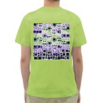 Block On Block, Purple Green T-Shirt Back