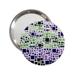 Block On Block, Purple 2 25  Handbag Mirrors