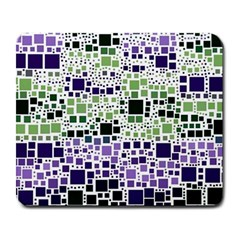 Block On Block, Purple Large Mousepads