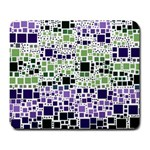 Block On Block, Purple Large Mousepads Front