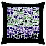 Block On Block, Purple Throw Pillow Case (Black) Front