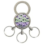 Block On Block, Purple 3-Ring Key Chains Front