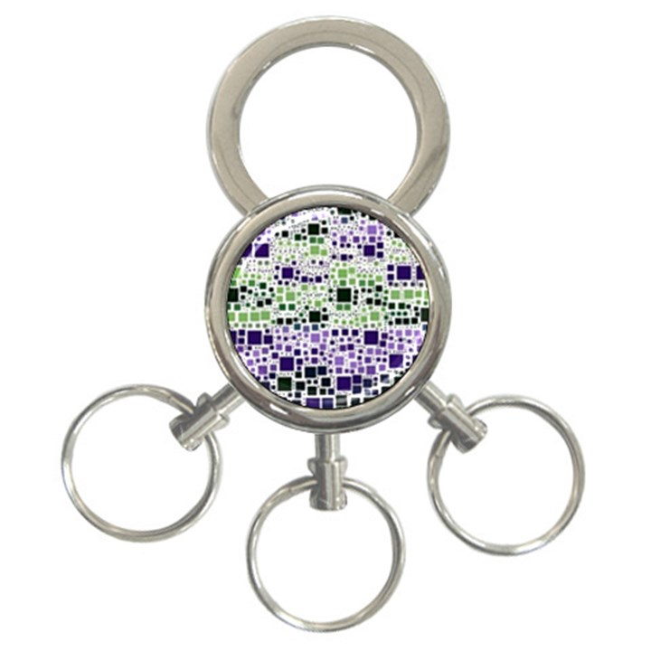 Block On Block, Purple 3-Ring Key Chains
