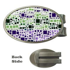 Block On Block, Purple Money Clips (oval)