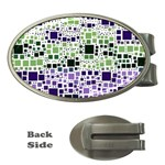 Block On Block, Purple Money Clips (Oval)  Front