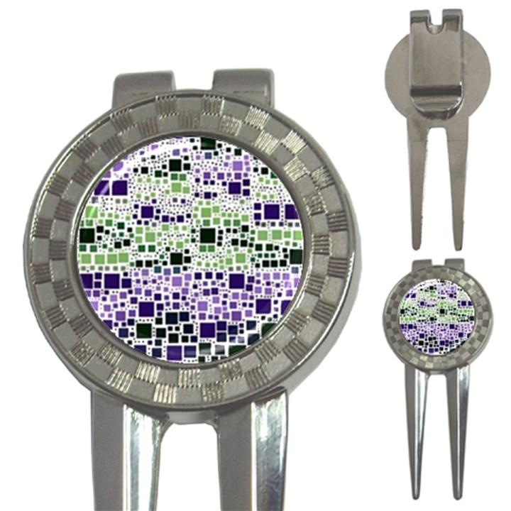 Block On Block, Purple 3-in-1 Golf Divots