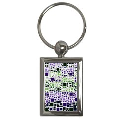 Block On Block, Purple Key Chains (Rectangle)