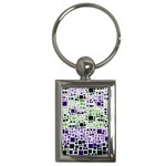 Block On Block, Purple Key Chains (Rectangle)  Front