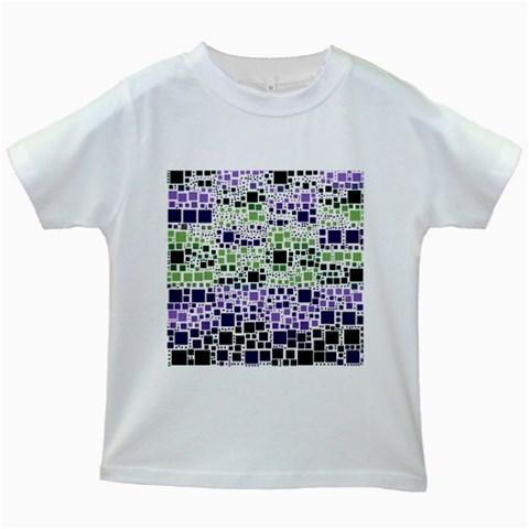 Block On Block, Purple Kids White T-Shirts