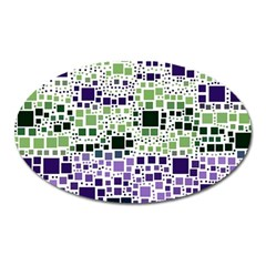 Block On Block, Purple Oval Magnet