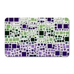 Block On Block, Purple Magnet (Rectangular)