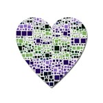 Block On Block, Purple Heart Magnet Front
