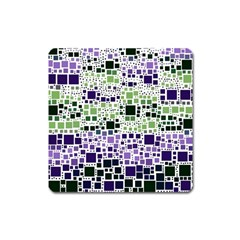 Block On Block, Purple Square Magnet
