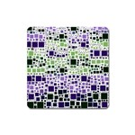 Block On Block, Purple Square Magnet Front