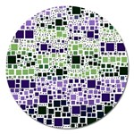 Block On Block, Purple Magnet 5  (Round) Front