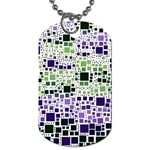 Block On Block, Purple Dog Tag (One Side) Front