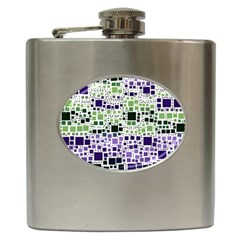 Block On Block, Purple Hip Flask (6 oz)