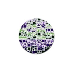 Block On Block, Purple Golf Ball Marker (4 Pack)