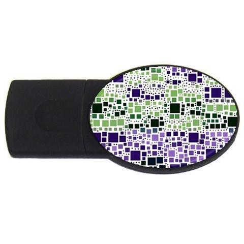 Block On Block, Purple USB Flash Drive Oval (1 GB)