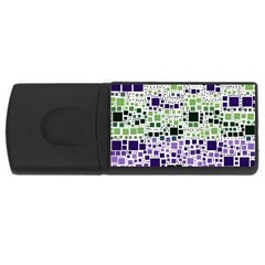 Block On Block, Purple USB Flash Drive Rectangular (2 GB)