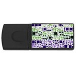 Block On Block, Purple USB Flash Drive Rectangular (2 GB)  Front