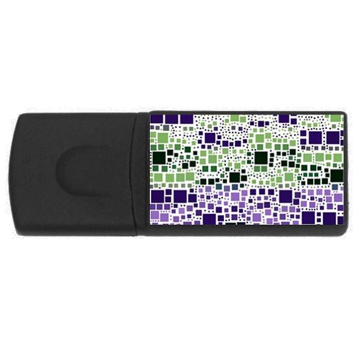 Block On Block, Purple USB Flash Drive Rectangular (1 GB)