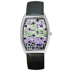 Block On Block, Purple Barrel Style Metal Watch