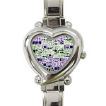 Block On Block, Purple Heart Italian Charm Watch Front