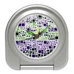 Block On Block, Purple Travel Alarm Clocks Front