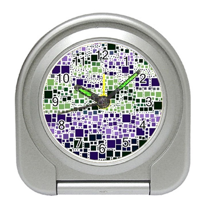Block On Block, Purple Travel Alarm Clocks