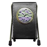 Block On Block, Purple Pen Holder Desk Clocks Front