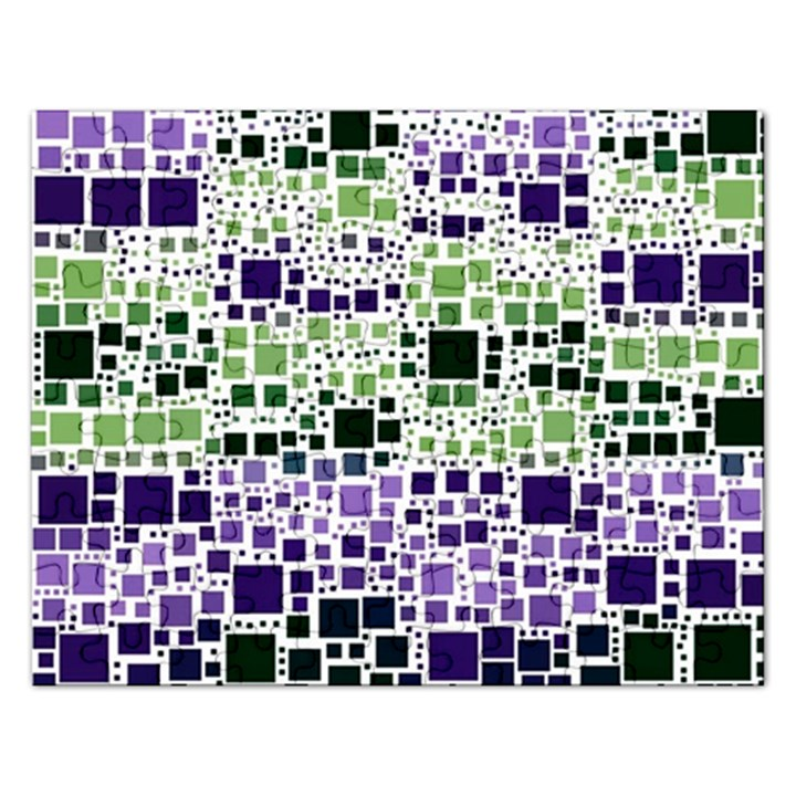 Block On Block, Purple Rectangular Jigsaw Puzzl