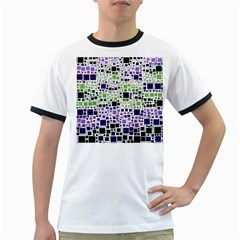 Block On Block, Purple Ringer T-Shirts
