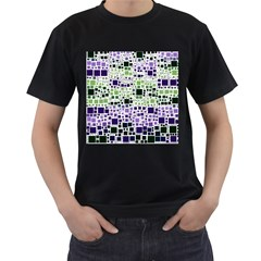 Block On Block, Purple Men s T Shirt (black) (two Sided)