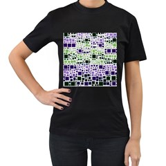 Block On Block, Purple Women s T Shirt (black) (two Sided)