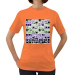 Block On Block, Purple Women s Dark T-Shirt Front