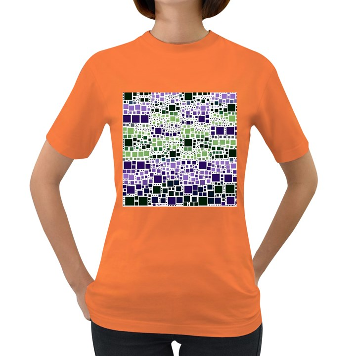 Block On Block, Purple Women s Dark T-Shirt