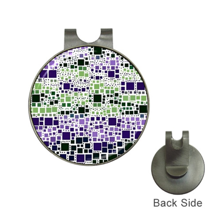 Block On Block, Purple Hat Clips with Golf Markers
